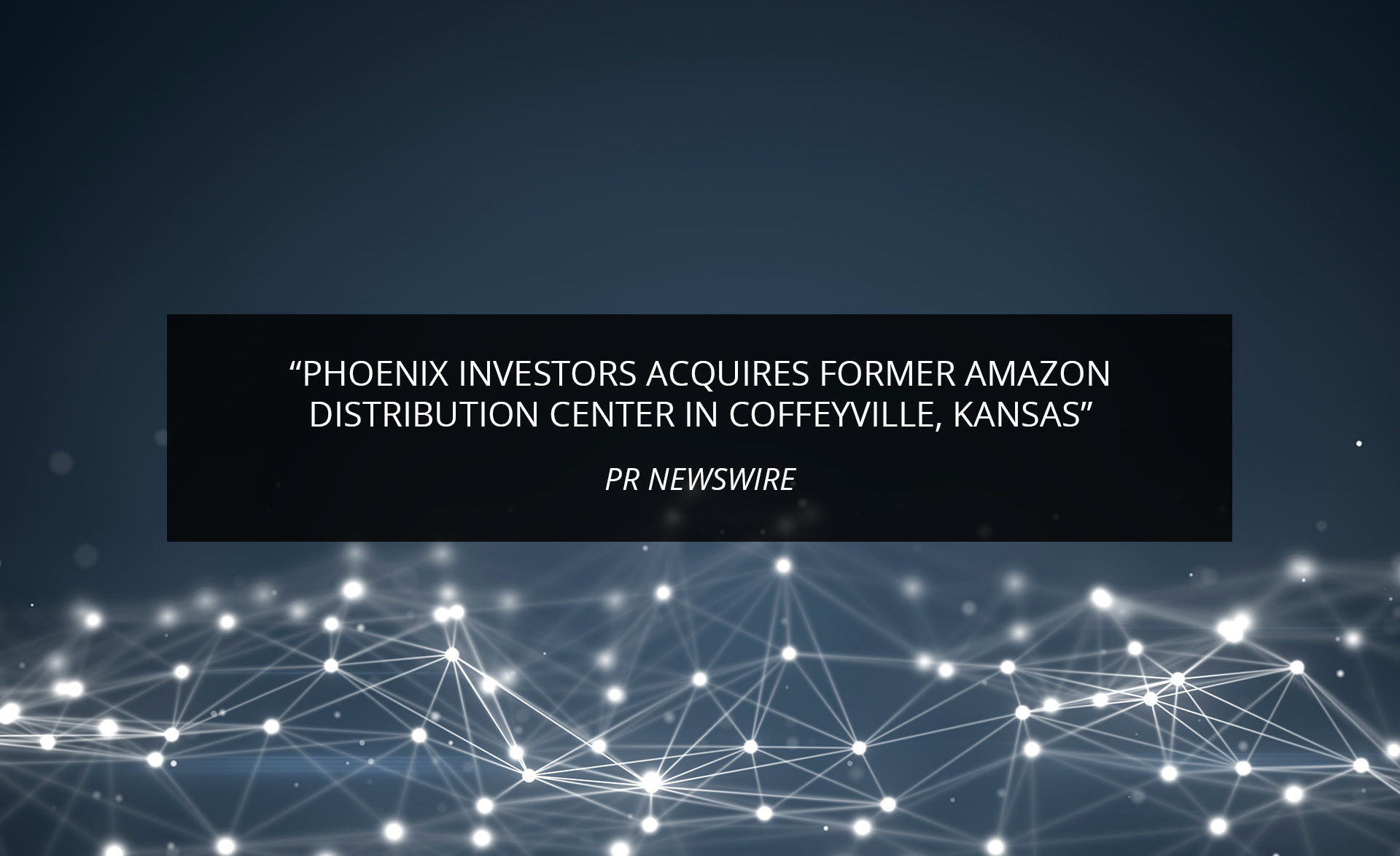 Coffeyville Press Release | Phoenix Investors